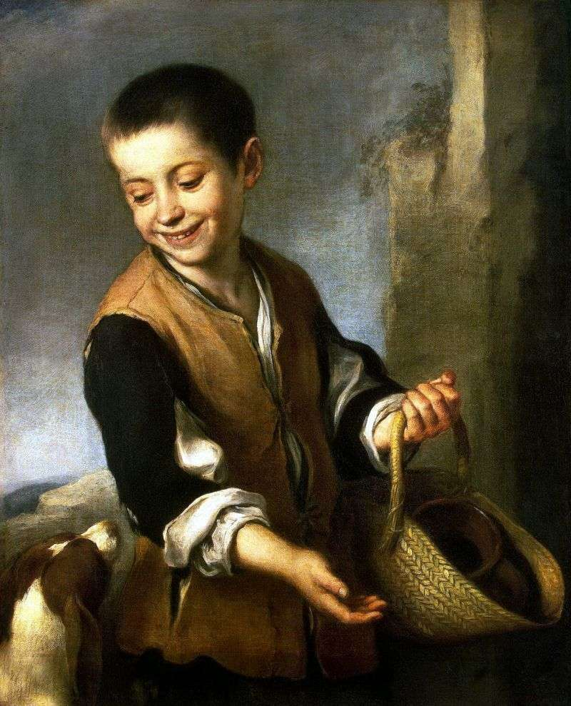 Chłopiec z psem   Bartolome Esteban Murillo