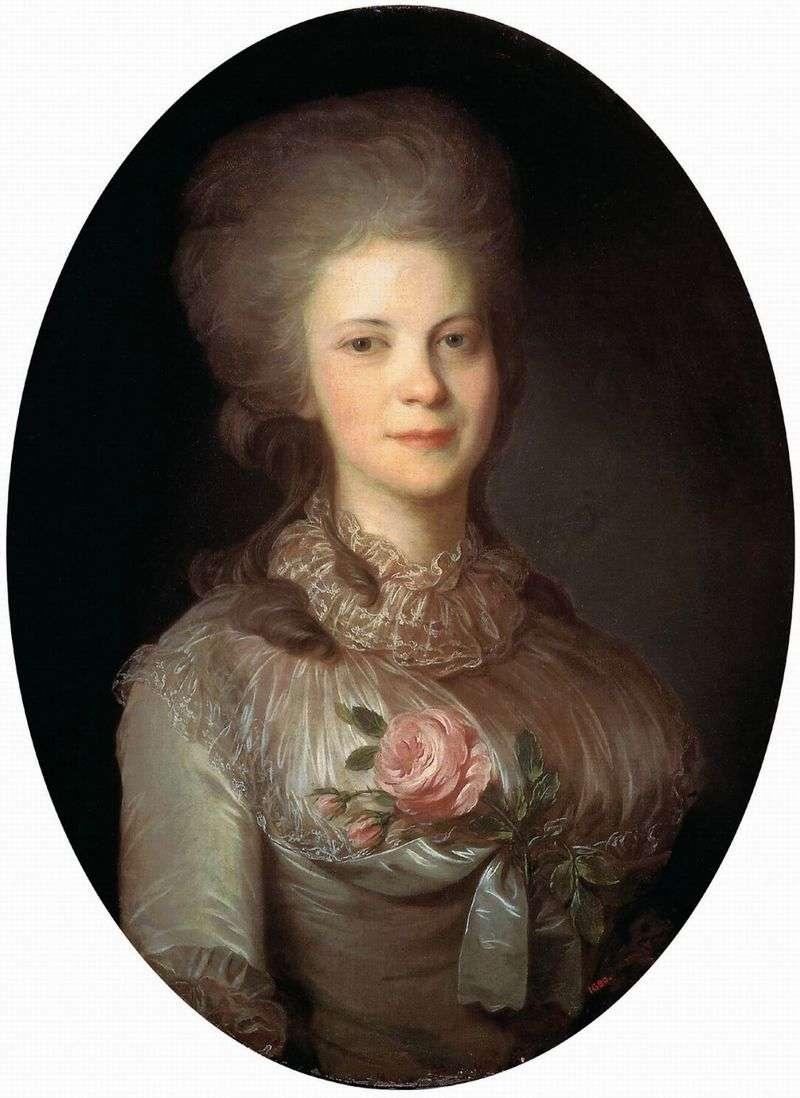 Portret Varvara Nikolaevna Surovtseva   Fedor Rokotov