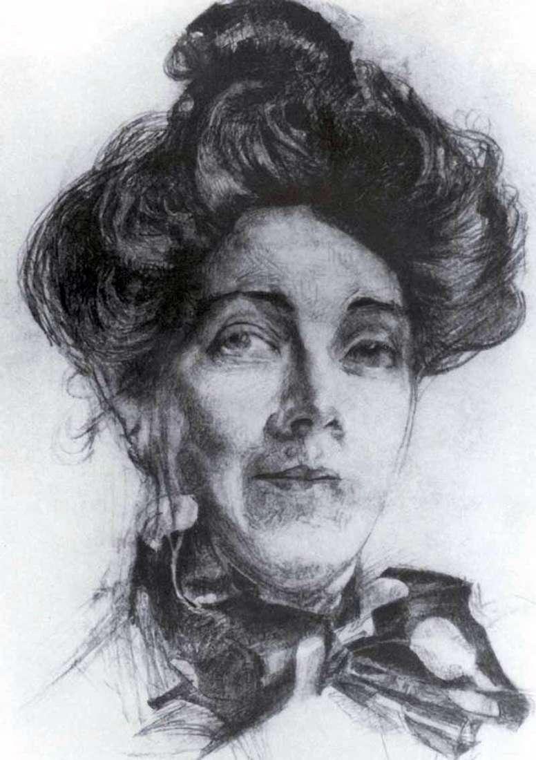 Portret N. I. Zabely   Michaił Vrubel
