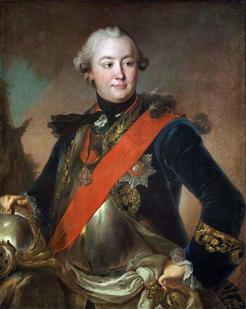 Portret hrabiego G. G. Orłowa w Lats   Fedor Rokotov