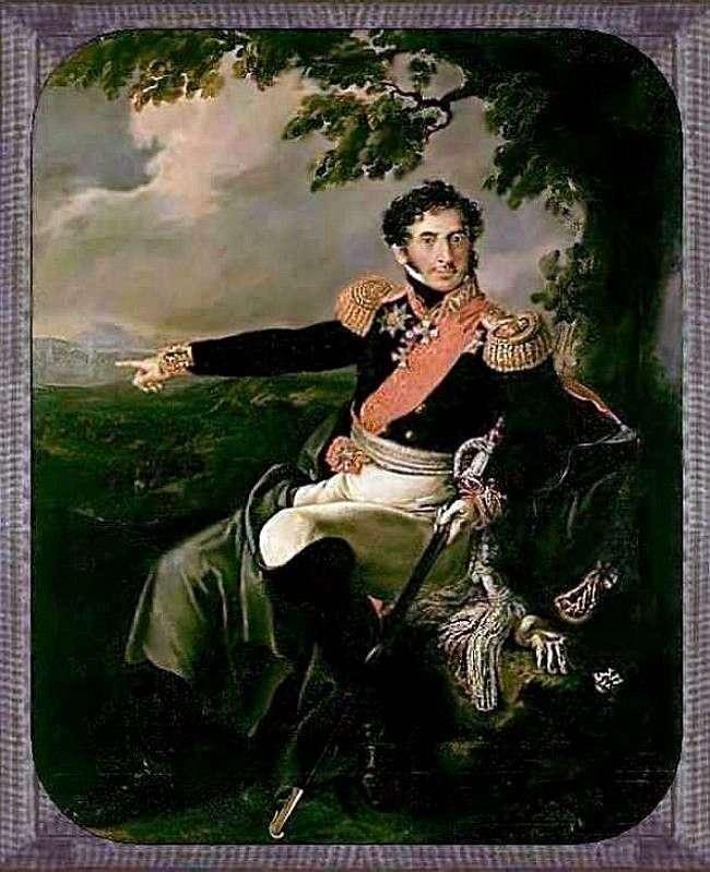 Portret P. I. Bagration   Wasilij Tropinin