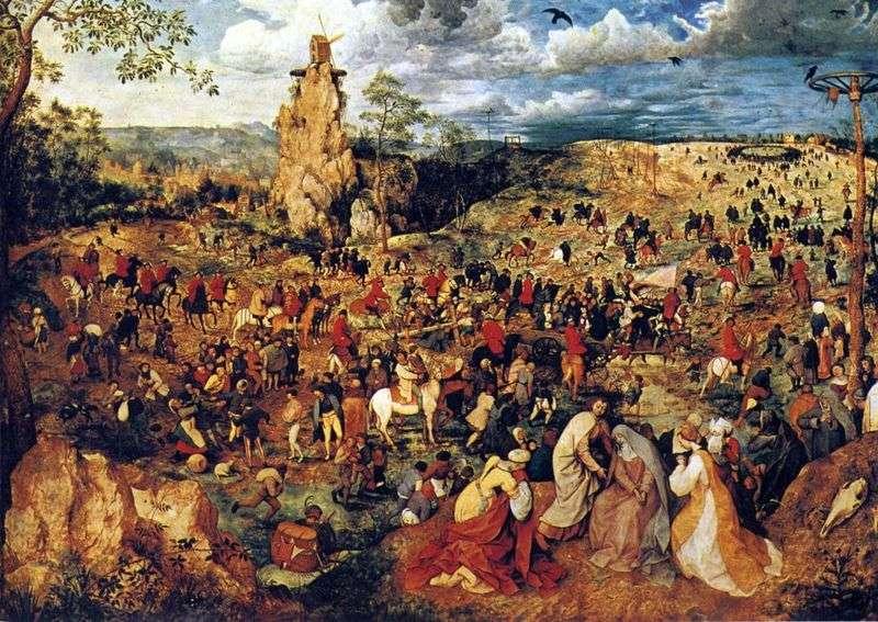 Procesja z Kalwarii   Pieter Bruegel