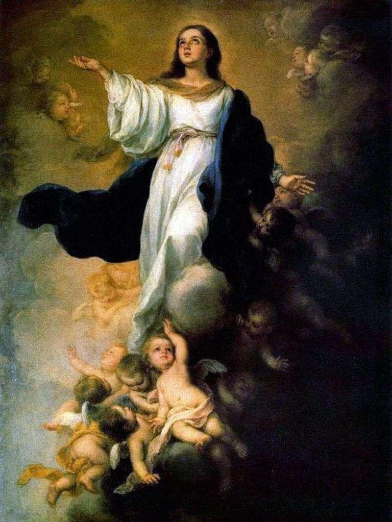 Wniebowzięcie Najświętszej Maryi Panny   Bartolome Esteban Murillo