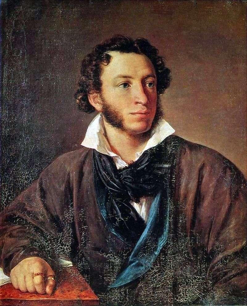 Portret Puszkina   Wasilij Tropiński