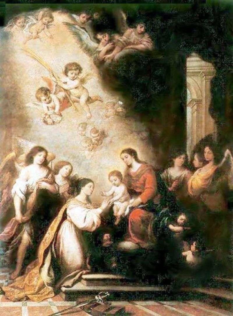 Zaręczyny sv. Catherine   Bartolomeo Esteban Murillo