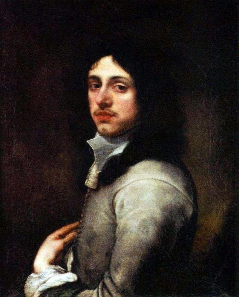 Portret młodego mężczyzny w szarym   Bartolome Esteban Murillo