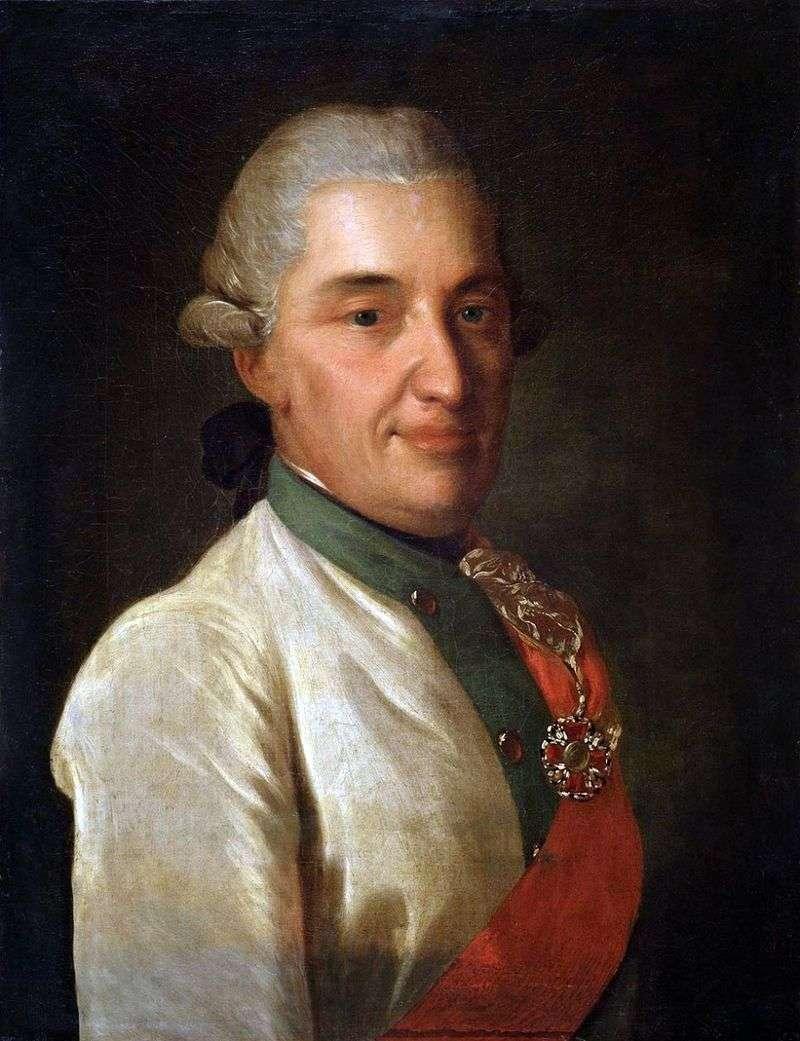 Portret D. N. Senyavina   Fedor Rokotov
