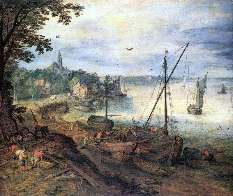 Krajobraz rzeczny z drwalami   Jan Bruegel