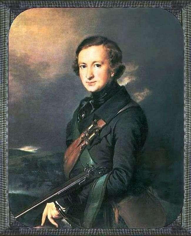 Portret Yu F. Samarin w kolorze myśliwskim   Wasilij Tropinin