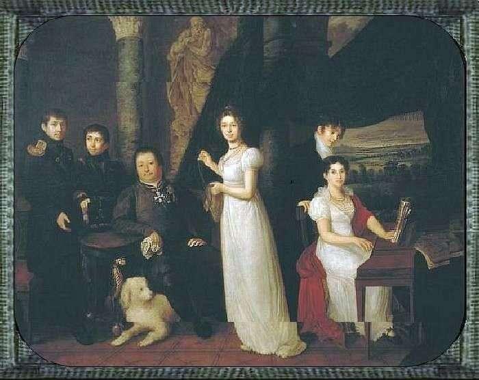Portret rodzinny Morkov   Wasilij Tropinin
