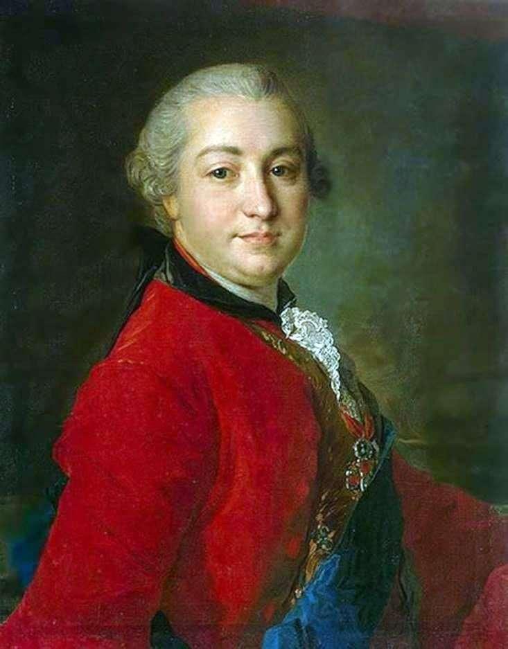 Portret I. I. Shuvalov   Fedor Rokotov