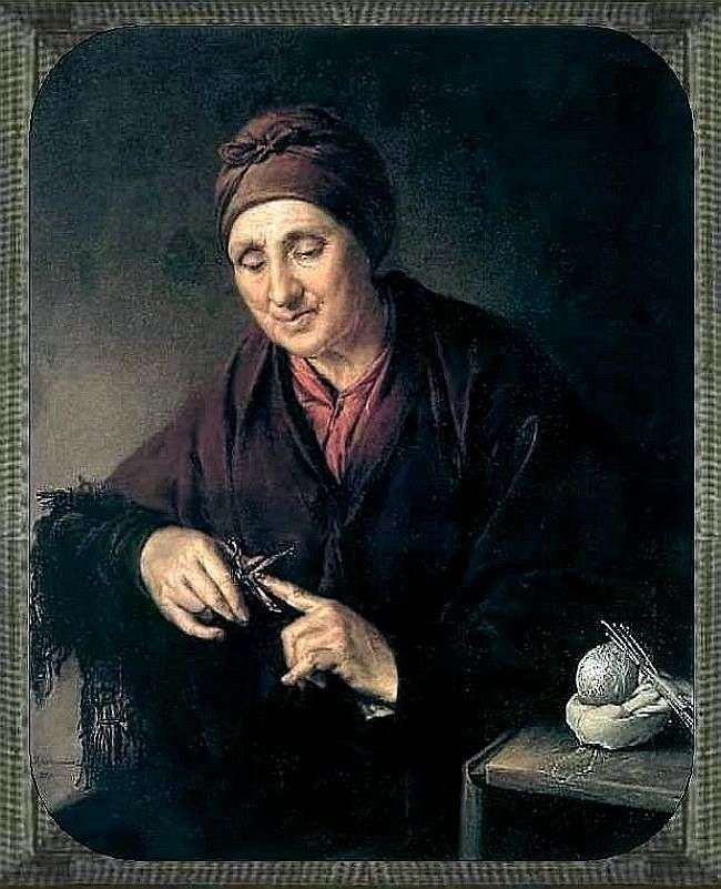 Stara kobieta Grooming Nails   Wasilij Tropinin