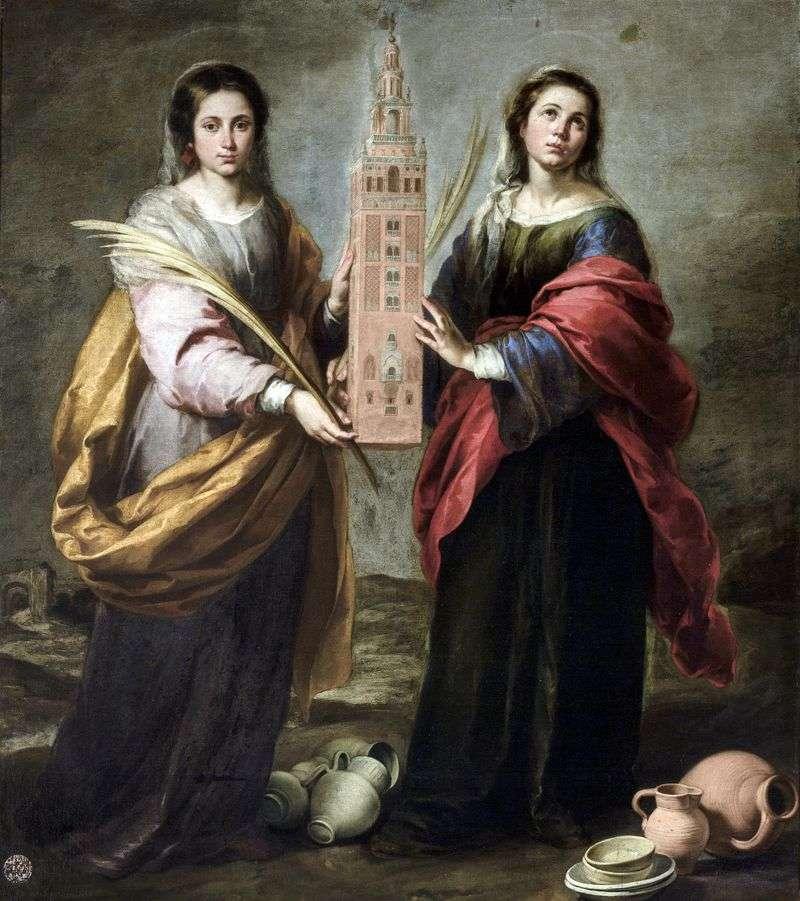 Św. Justyna i św. Rufina   Bartolomeo Esteban Murillo
