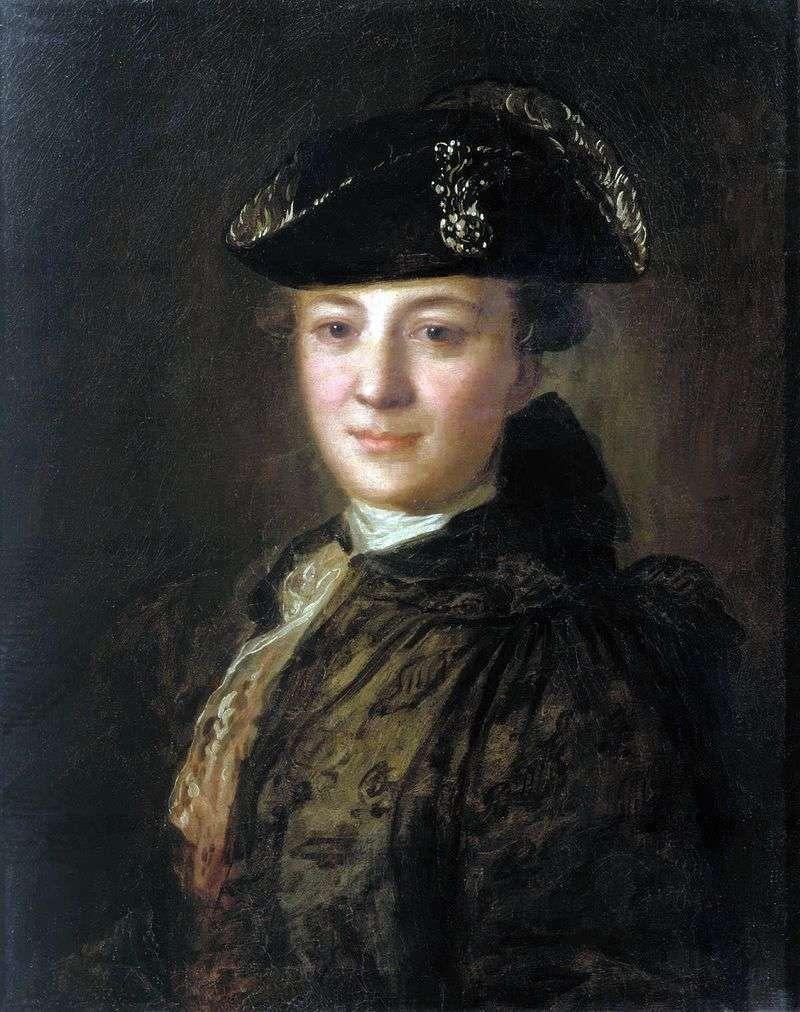 Portret nieznanego w przekrzywionym kapeluszu   Fedor Rokotov