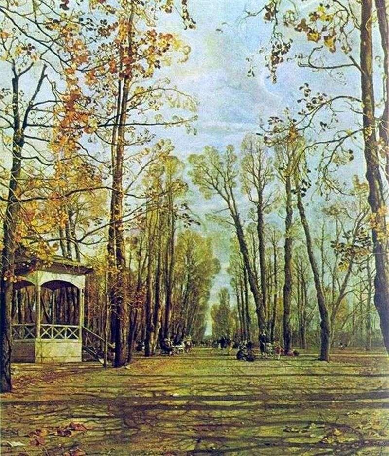 Letni ogród jesienią   Izaak Brodski