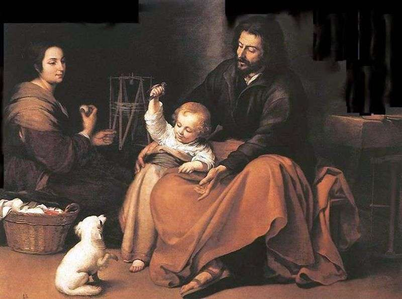 Święta rodzina z ptakiem   Bartolome Esteban Murillo