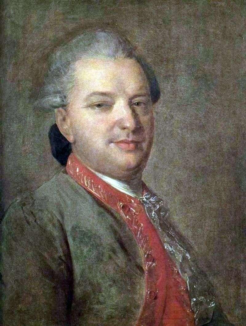 Portret poety Wasilij Iwanowicz Majkow   Fiodor Rokotow