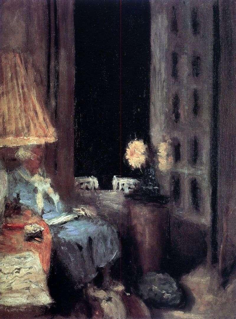 Czytanie kobiety. Wieczór.   Edouard Vuillard
