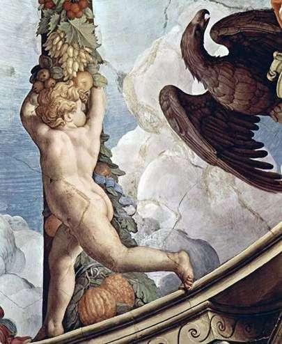 Girlanda z aniołami (fresk)   Agnolo Bronzino