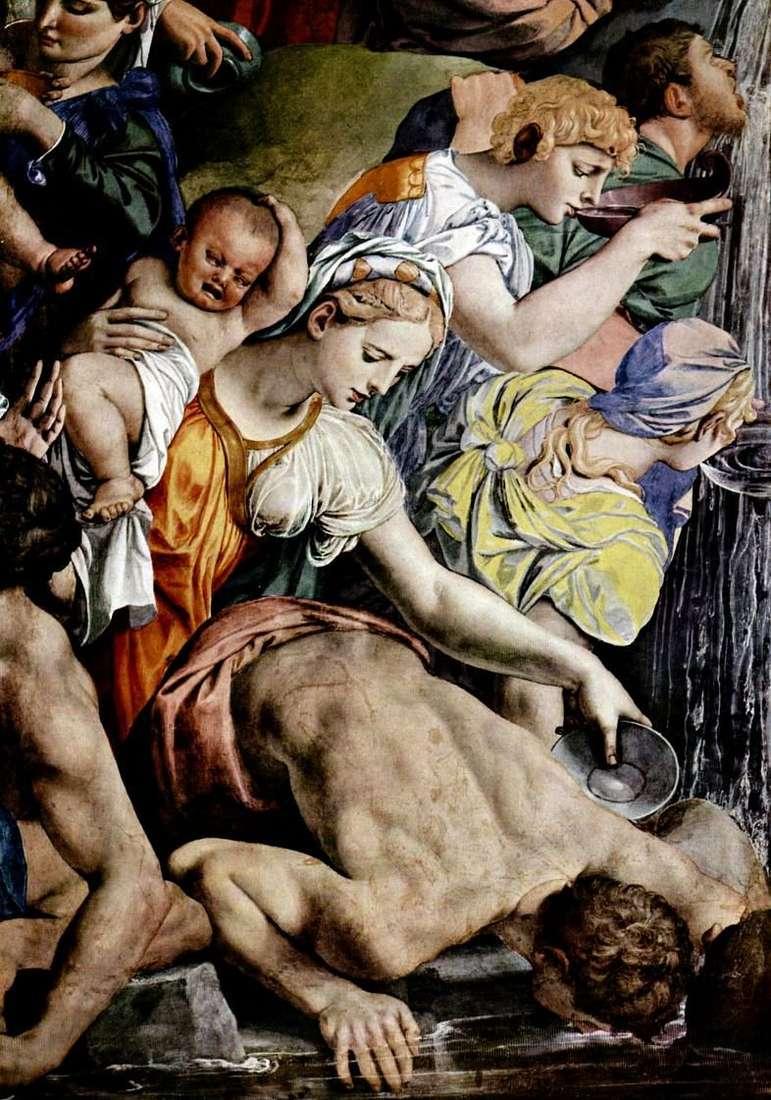 Mojżesz wycina wodę ze skały (fresk)   Agnolo Bronzino