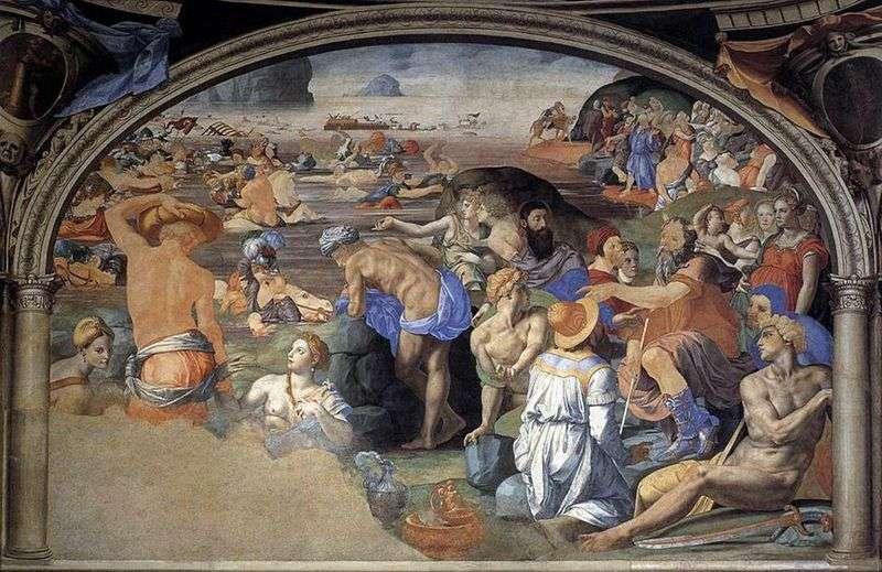 Przekraczanie Morza Czerwonego   Agnolo Bronzino