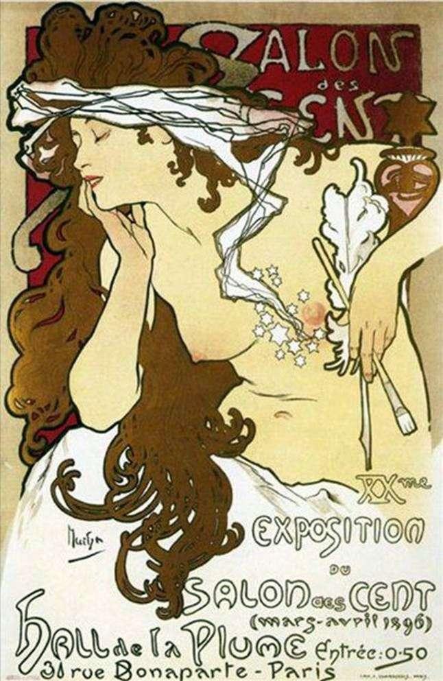 Plakat XX wystawa Salon sto   Alphonse Mucha
