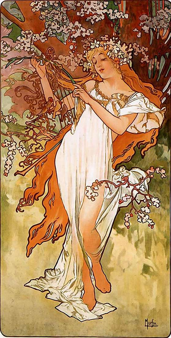 Wiosna   Alphonse Mucha
