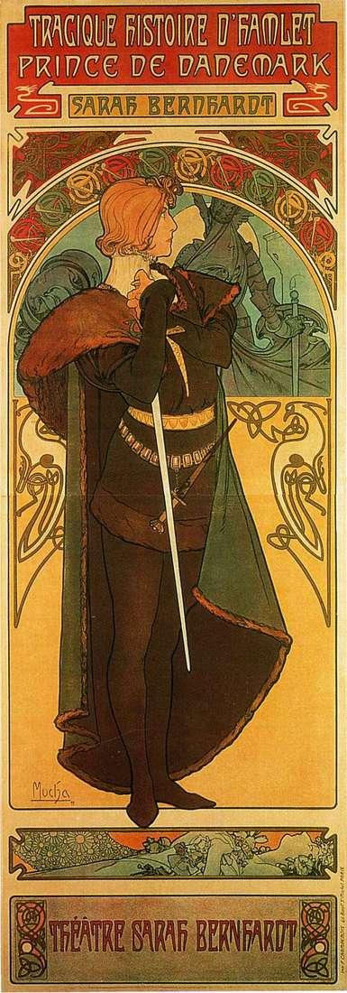 Hamlet, książę Danii   Alphonse Mucha