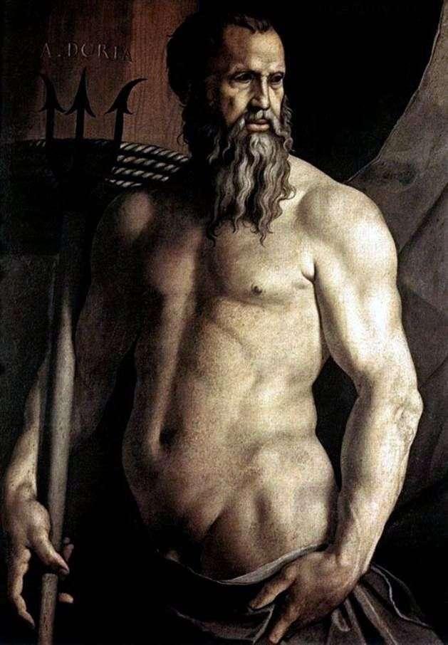Portret Andrei Doria w postaci Neptuna   Agnolo Bronzino