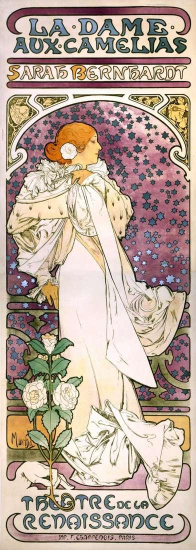 Dama z kamelii   Alphonse Mucha