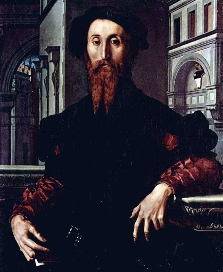 Portret Bartolomeo Panchatica   Agnolo Bronzino