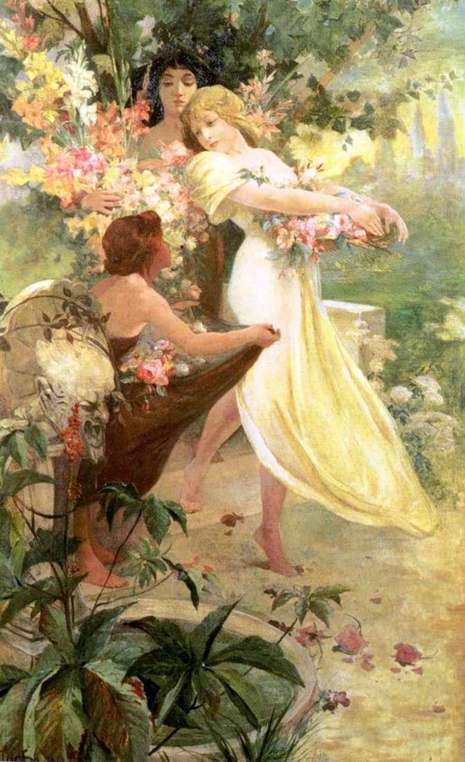 Duch wiosny   Alphonse Mucha