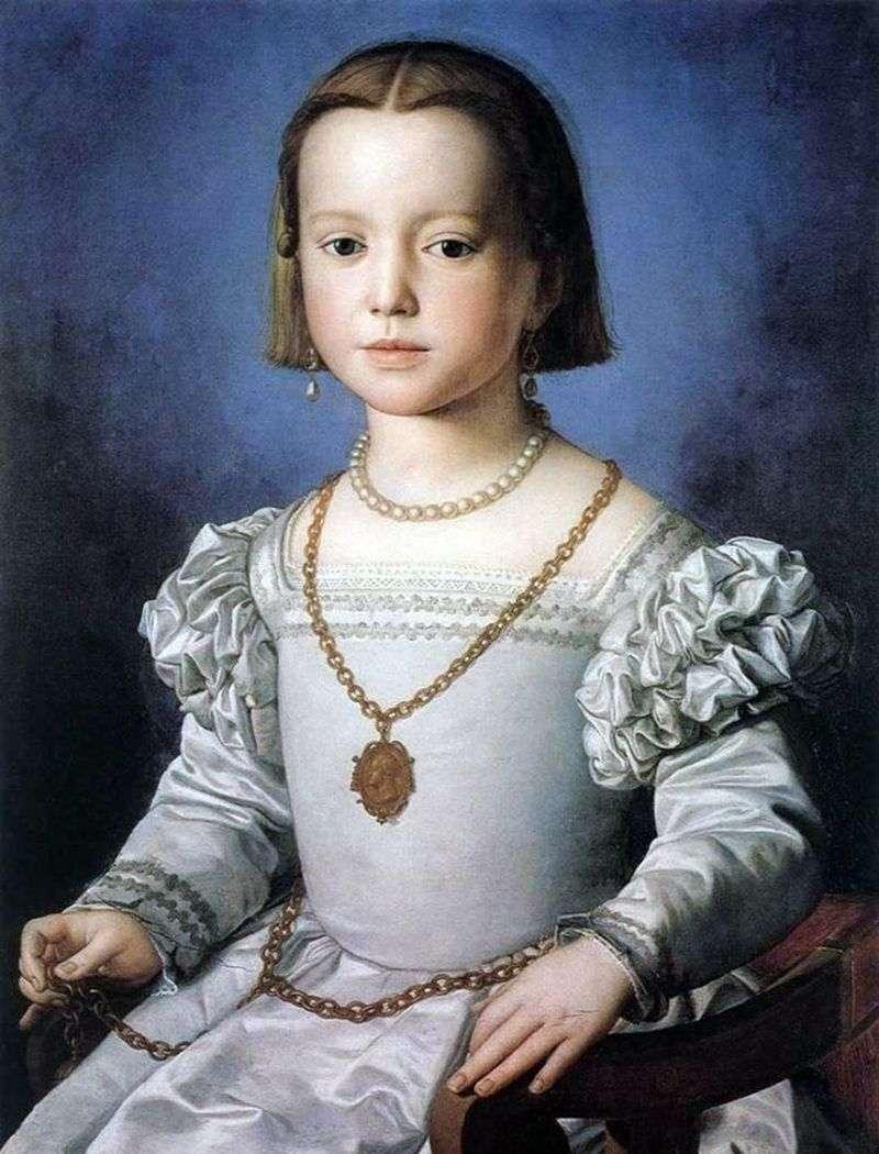 Portret Bia Medici, córka Cosimo I   Agnolo Bronzino