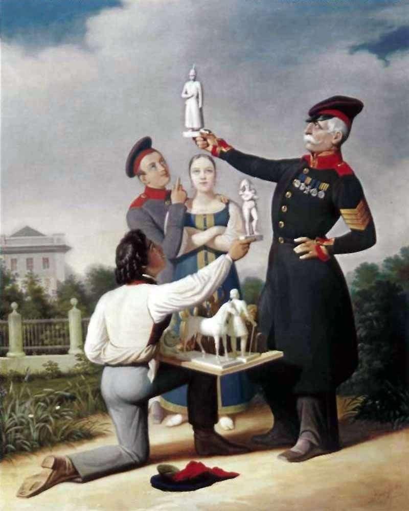 Sprzedawca gipsowych statuetek   Karl Gampeln