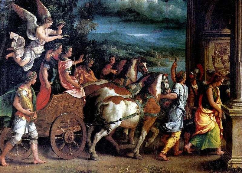 Triumf Tytusa i Wespazjana   Giulio Romano
