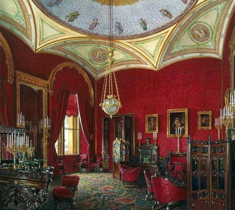 Rodzaje pokoi Pałacu Zimowego. Gabinet cesarzowej Aleksandry Fiodorowna   Edward Hau